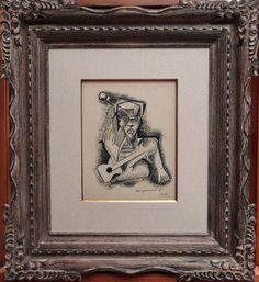 DI CAVALCANTI, 1974 - Figura - Nanquim s/ papel - a.c.i.d. - 30 x 23 cm