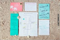 beach save the date | VIA #WEDDINGPINS.NET