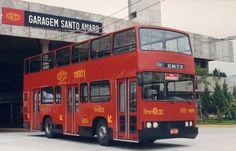 """Onibus de 2 andares da CMTC apelidado de """"Fofão"""" (circulou entre 1987 e 1993)"""