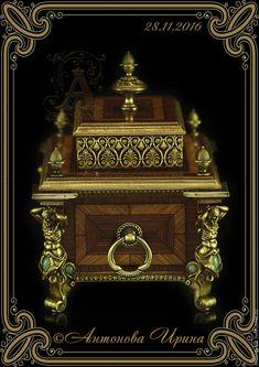 """Купить Короб-шкатулка-""""Ампир"""" - коричневый, шкатулка, шкатулка для украшений, шкатулка ручной работы"""