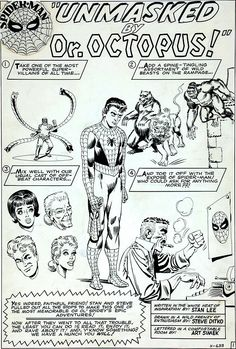 Unmasked By Dr. Octopus! By Steve Ditko