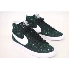 Matrix theme Nike Blazers - Custom hand-painted NikeID by BStreetShoes