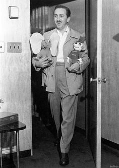 Walt Disney, 1940s.  how he changed our world into something magical <3