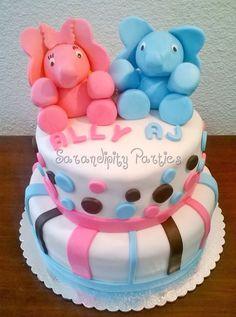 BabyShower cake! Twins