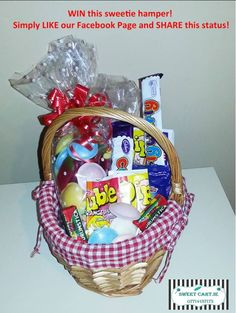 Win a sweetie hamper - Competitions. Hamper, Competition, Ireland, Irish, Sweet, Candy, Irish Language, Basket