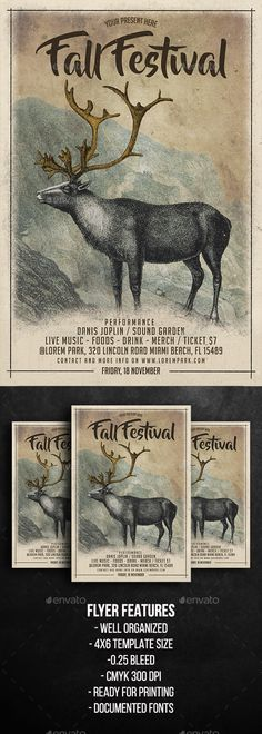 Fall Festival Flyer Template  — PSD Template #leaves #festival • Download ➝ https://graphicriver.net/item/fall-festival-flyer-template/18142825?ref=pxcr