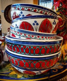 Italian Pottery Outlet (@italianpottery) • Instagram photos and videos Italian Pottery, Northern Italy, Sicilian, Red S, Crisp, Clay, Hand Painted, Ceramics, Tableware