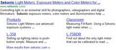 Sitelinks Example