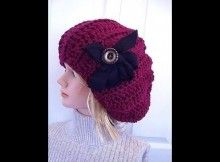 CROCHET PATTERN, SLOUCHIE HAT, ADULT SIZE.  How to diy - YouTube thumbnail