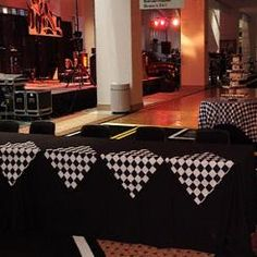 Car Show Reception-THIS SITE AS EVERYTHING FOR RACE THEMED PARTIES, SCRAPBOOKS, JEWELRY, EVERYTHING!! Nascar Party, Race Car Party, Race Car Birthday, Cars Birthday Parties, 50th Birthday, Themed Parties, Party Themes, Car Themed Wedding, Race Car Themes