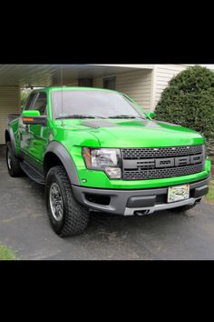 Lime green F150