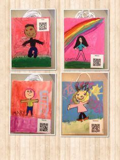 Have students record info about their work via audio file or video and use the QR codes to link it. Your audience can see the work and link to more information.