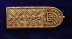 10th C belt strap end found at Chernigov