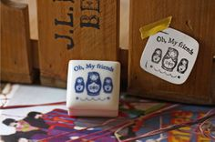 Ceramics Rubber Stamp Set - Matryoshka doll - 1 Stamp and 1 Ink Pad