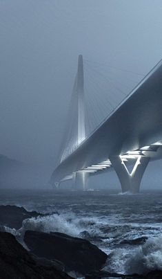 Zaha Hadid wins contest for landmark bridge across Taipei's Tamsui River.
