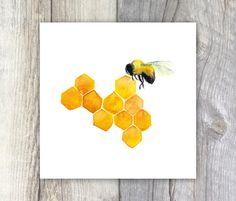 Hey, I found this really awesome Etsy listing at https://www.etsy.com/uk/listing/211178290/honey-bee-watercolour-painting-6x6