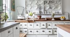 Scandinavian Country Style - Norwegian country kitchen storage idea