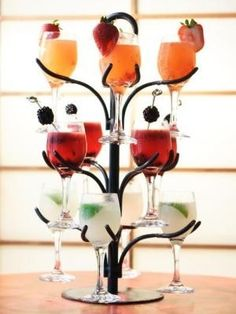 Drink tree! #cocktail #glassware #entertaining #inspiration