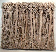 "Paper Sculpture - ""Cardboard Forests"" by Eva Jospin Cardboard Sculpture, Cardboard Art, Sculpture Lessons, Sculpture Art, Sculpture Projects, Cardboard Relief, Classe D'art, Art Postal, Instalation Art"