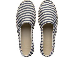 <p>Brazil's authentic and original flip flop has a new companion! Containing the same rubber sole used as a flip flop, this nautical striped espadrille is the perfect mix of modern and classic. Put some sole in your sole!</p><ul><li>Runs large: order one size down</li><li>Lightweight</li><li>Detailed stitching</li><li>Cushioned footbed with textured rice pattern and rubber flip flop sole</li><li>Made in Brazil</li></ul>