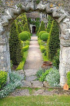 Garden path by Mark Smith, via Dreamstime Plant Sculpture Topiary Art Garden