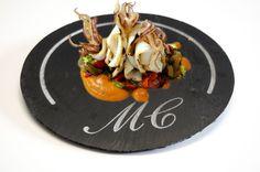 Plato redondo de 32 cm Grabado #platos #pizarra #ardoise #slate #decoración #deco #cuisine #interior #food #kitchen #entrantes
