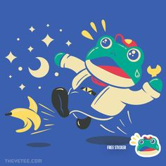 Slipping Toad By Minilla, today at The Yetee!
