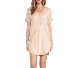 blush sequin shift dress
