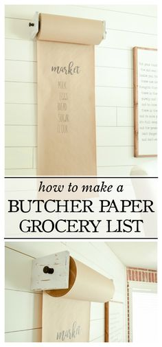 Simplify your shopping with this handy grocery list made from butcher paper! Jot your items down throughout the week, snap a pic on grocery…