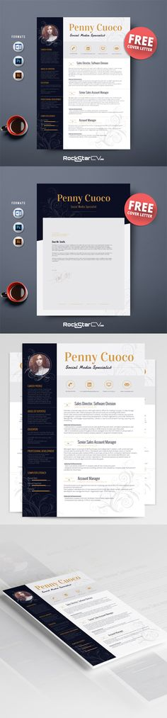 #Resume Template and #FREECoverLetter, #ResumeWord, #PhotoResume, #TeacherResume, #ProfessionalResume, #CreativeResume, #PictureResume