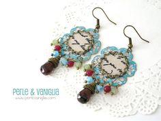 Perle & Vaniglia: So Shabby - earrings  #handmade #earrings #patina #vintage #cabochon  www.perlevaniglia.com