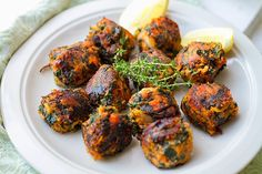 Spinach & Sweet Potato Bombs - Eat Drink Paleo