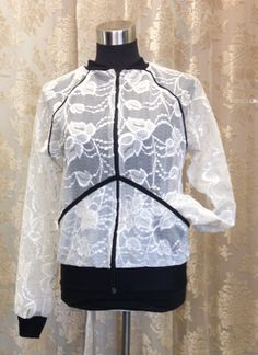 Lace version of Hits bomber jacket