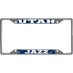 NBA Utah Jazz License Plate Frame, Silver