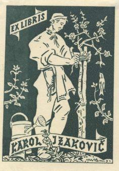 Ex libris by Slovak painter and illustrator Martin Benka (1888-1971) - 1949
