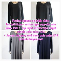 Pocket abayas on sale! — Everything is on sale at immehabayas.com — Sale ends this Friday! SALE • CLOTHING FROM £8 • SALE • HIJABS FROM £1.60 • WE ARE GIVING AWAY FREE DELIVERY FOR ALL OUR UK CUSTOMERS! SPEND OVER £30 AND GET FREE SHIPPING - USE CODE: DHUL - UK ONLY.