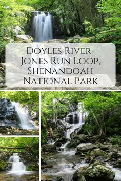 Taking you past three large waterfalls, the Doyles River-Jones Run Loop is one of the best waterfall hikes in Shenandoah National Park, Virginia. Best Places To Camp, Camping Places, Places To See, Weekend Trips, Day Trips, Camping World Locations, Virginia Vacation, Shenandoah National Park, Shenandoah Valley