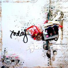 Amazing layout by Eirini Tsaima created for Mixed Media Place store http://mixedmediaplace.blogspot.com/2017/02/february-challenge.html