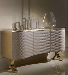 Padded shaped luxury sideboard buffet