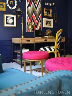 See how this dark shade of blue can really add personality to any room in your home. We show you project ideas to seamlessly add indigo as a wall color, furniture color or decor color to bring a sophisticated, darker color palette into your home.