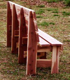 Red Cedar Garden Bench - Quality Built Pergolas