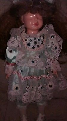 Eyeless doll horror creepy ooak porcelain
