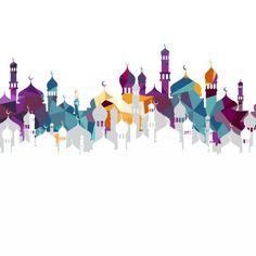 Ramadan kareem mosque eid al adha Vector and PNG