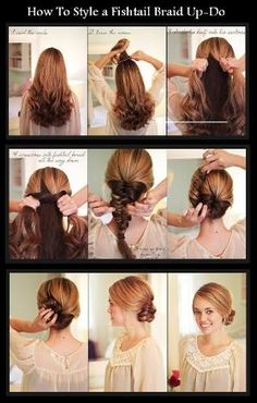 Never learned how to fishtail braid? While braided hairstyles are usually one of the first girls learn to diy, the fishtail braid is a bit Pretty Hairstyles, Braided Hairstyles, Wedding Hairstyles, Easy Hairstyle, Diy Wedding Hair, Different Hairstyles, Hair Today, Hair Dos, Hair Hacks