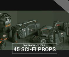 Kitbash Set Vol 45 Sci-Fi Props by Jonathan Ching