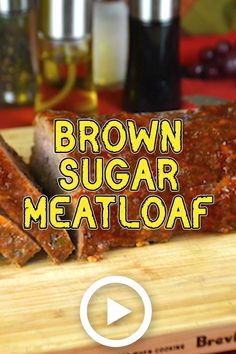 Brown Sugar Meatloaf by KitchenDivas. This easy recipe is full with flavors yet . Brown Sugar Meatloaf by KitchenDivas. This easy recipe is full with flavors yet it is so simple to make! Easy Meatloaf, Meatloaf Recipes, Awesome Meatloaf Recipe, Meatball Recipes, Beef Recipes, Brown Sugar Meatloaf, Meat Restaurant, Meat Recipes For Dinner, Salads