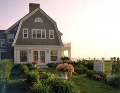 nantucket shingle style with gambrel roof. Nantucket Home, Nantucket Style Homes, Nantucket Massachusetts, Nantucket Island, Coastal Style, Gambrel Roof, Dream Beach Houses, My Dream Home, Exterior Design