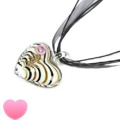 Fashion New Heart Colored Glaze Pendant Necklace FREE S/H!