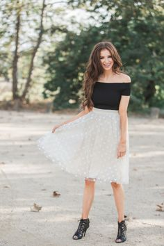 Black crop tops, off the shoulder top, closet staple, edgy and chic outfit ideas, Morning Lavender