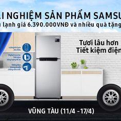 Trải nghiệm sản phẩm Samsung tại Vũng Tàu - giặt sạch quần áo MIỄN PHÍ, và nhận nhiều quà tặng hấp dẫn như túi trái cây tươi, chai nước giặt OMO, túi giặt quần áo. Ghé thăm xe buýt Samsung để tham gia các hoạt động thú vị, đồng thời nhận cơ hội bốc thăm may mắn trúng 1 tủ lạnh Samsung Digital Inverter trị giá 6,390,000 VNĐ ngày 16/4!   ------------------------------------- Ghé thăm chiếc xe buýt của Samsung với nhiều hoạt động thú vị như trực tiếp trải nghiệm sản phẩm, thưởng thức nước trái…